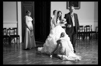 Lovely black and white wedding photograph