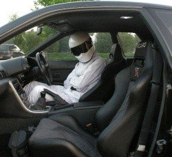 Taff Stig in his car