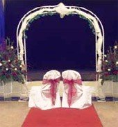 Chairs at wedding reception