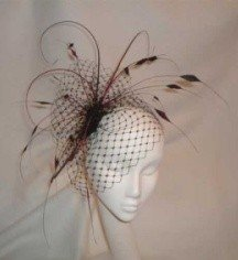 Black feather wedding hair piece