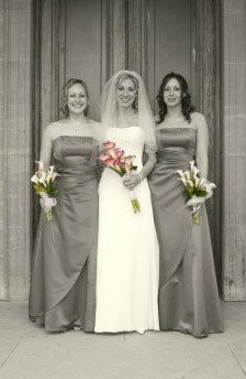 Lovely photograph of a bride and bridesmaids