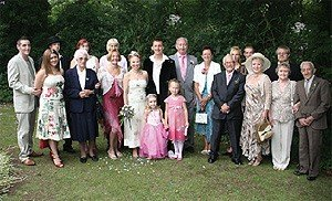 Family Photograph from a Wedding