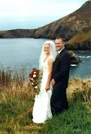 scenic wedding photography of the bride and groom