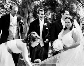 Beautiful black and white wedding photograph