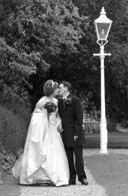 Atmospheric Black and White wedding photograph