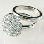 A spectacular diamond wedding engagement ring